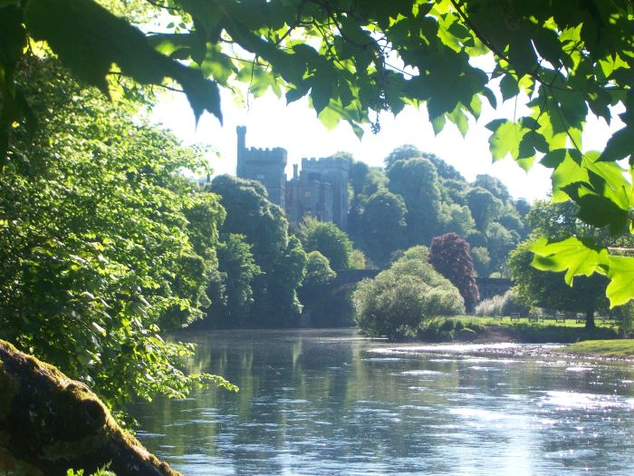 Unfortunately this is not the distillery. This is Lismore Castle on the Blackwater River.