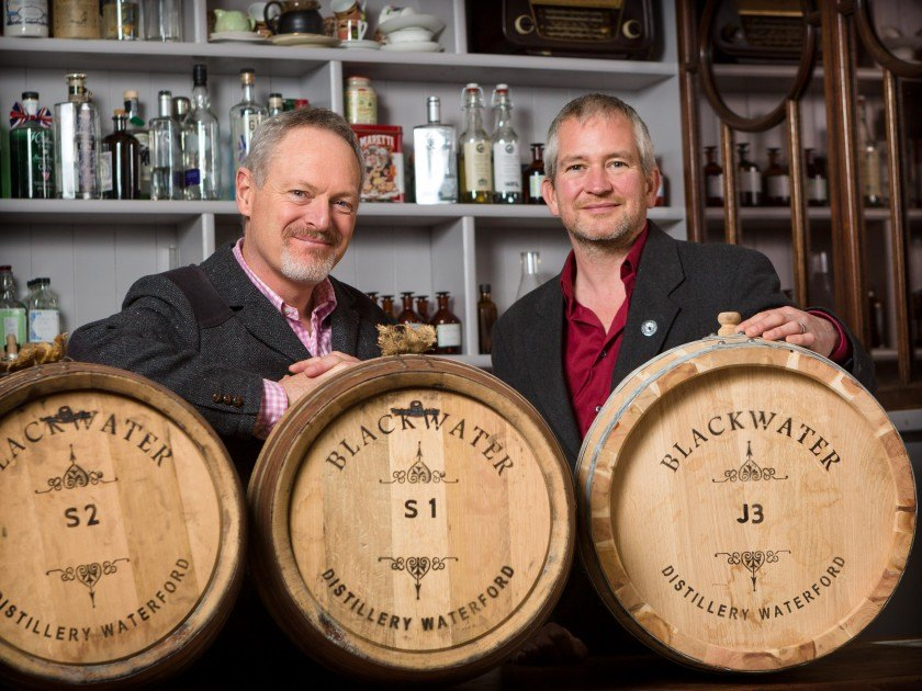 Peter, Kieran and some of our Juniper Casks.