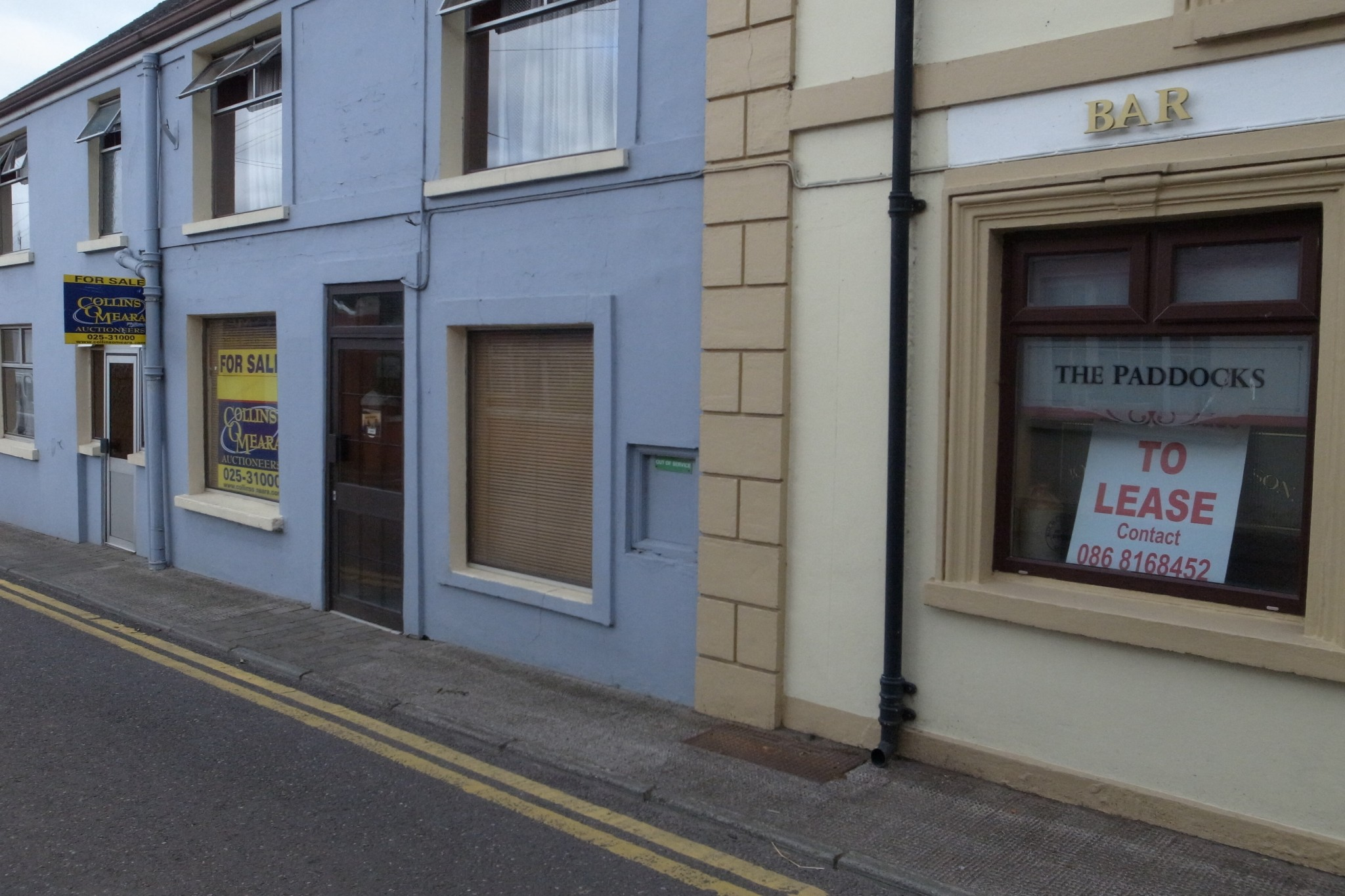 R: Former Post Office L: Former pub and guesthouse. Both for sale.